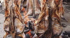 Fiesta del carnero al espeto de Vedra